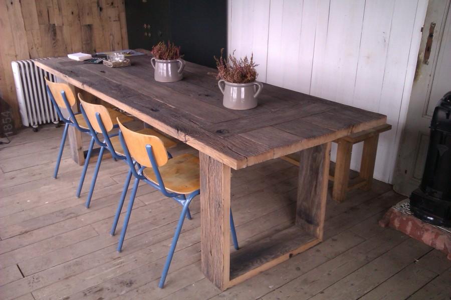 Robuuste tafels utrecht eiken tafels eikenhouten tafel teak