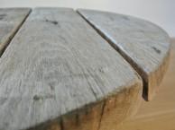 Rond tafelblad van oud eiken
