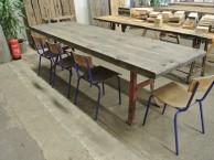 Wagonplanken tafel